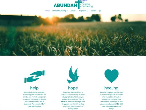 Abundant Life Christian Counseling Mobile Responsive Website