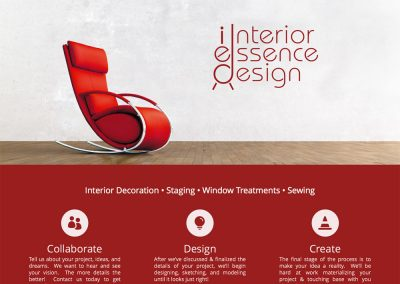 Interior Essence Design Brand Identity, Website, & Logo