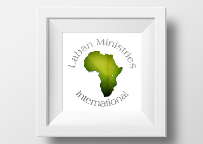 Laban Ministries Christian Mission in Congo Africa Logo design and brand identity printed on stationary, envelope, & business cards