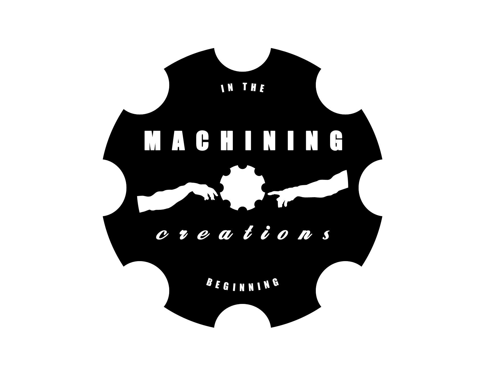 Machining Creations Machine Shop Business Logo Brand Identity The