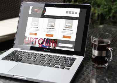 Notebook/Laptop view of Responsive Website for Real Estate agent