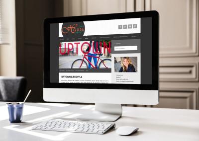 Desktop computer view of Responsive Website for Real Estate agent