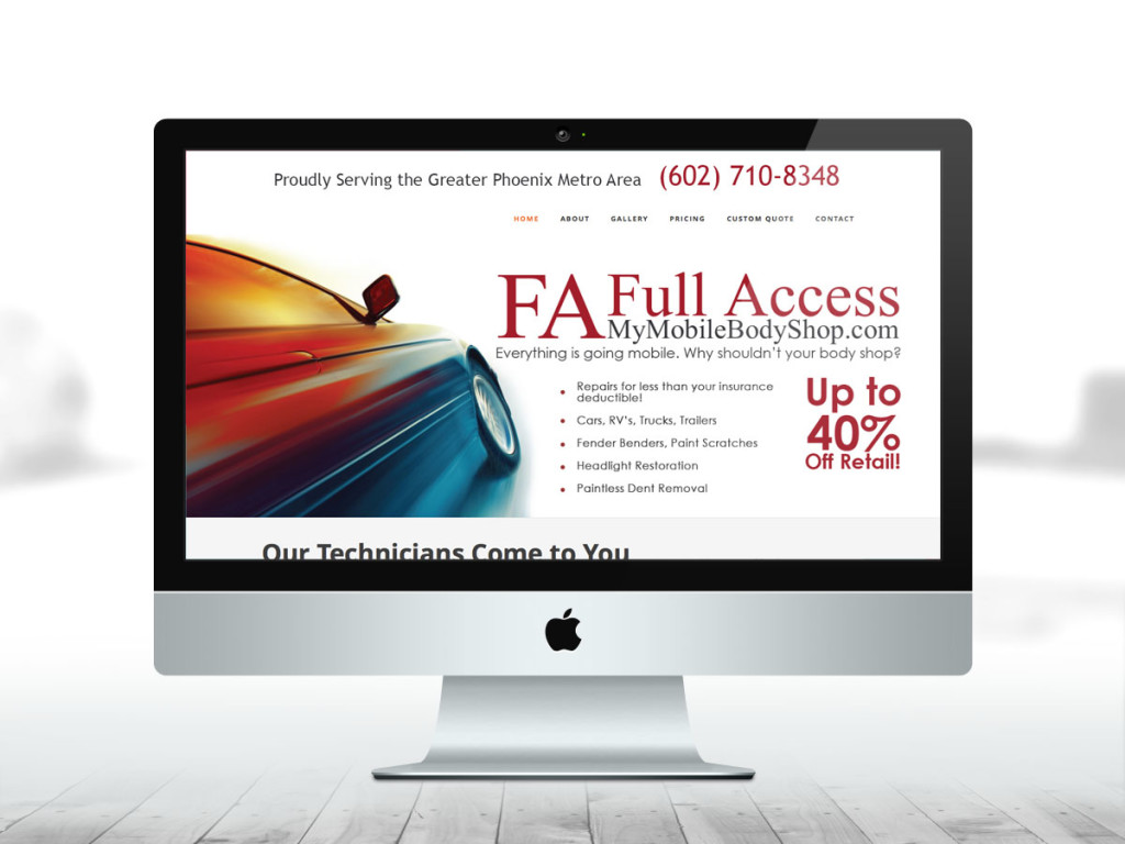 My Mobile Body Shop Mobile Responsive Website