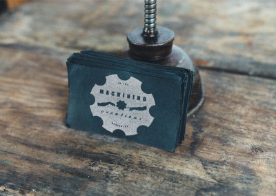 Rustic Vintage Business Card for local machine shop.