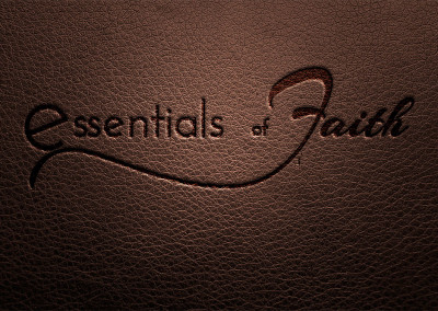 Essentials of Faith, faith based org, custom designed logo and brand identity