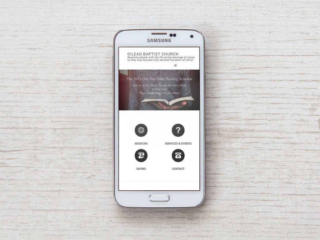 Gilead Church Mobile Responsive Website Design