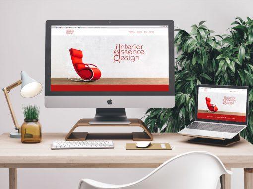 Interior Essence Design Brand Identity, Website, & Logo