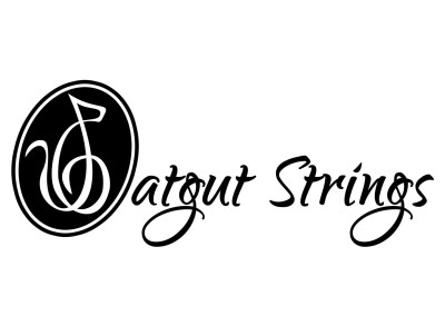 Catgut Strings music group logo and brand identity