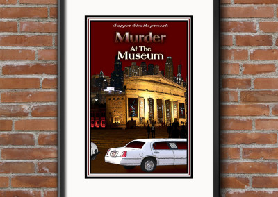 Murder at The Museum Mystery Dinner Game Custom Designed Product Cover for Digital & Print Media.
