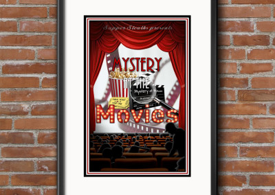 Mystery at the Movies Murder Mystery Dinner Game Custom Designed Product Cover for Digital & Print Media.