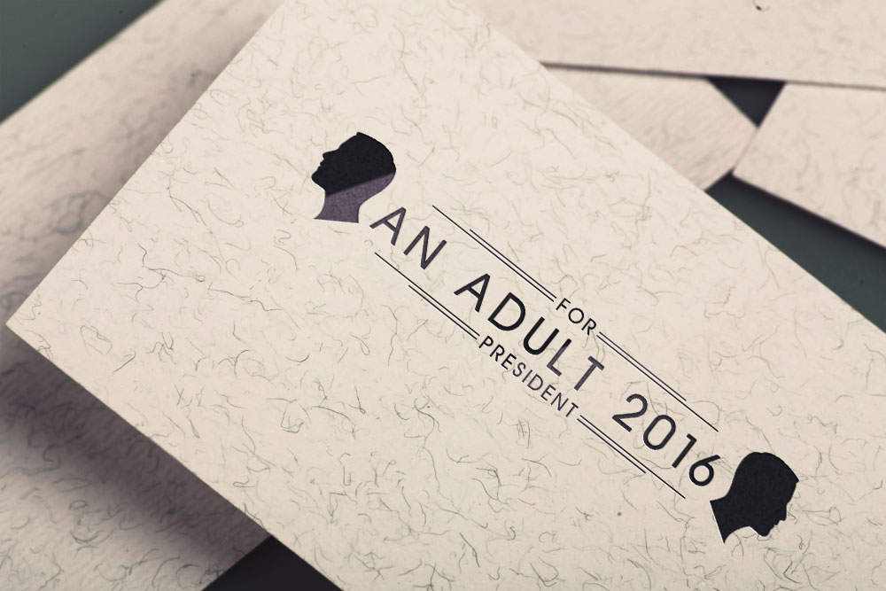 An Adult for President 2016 Logo and Brand Identity Design | The ...