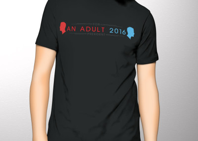 The political movement, An Adult for President 2016, custom logo/brand design for digital and print media