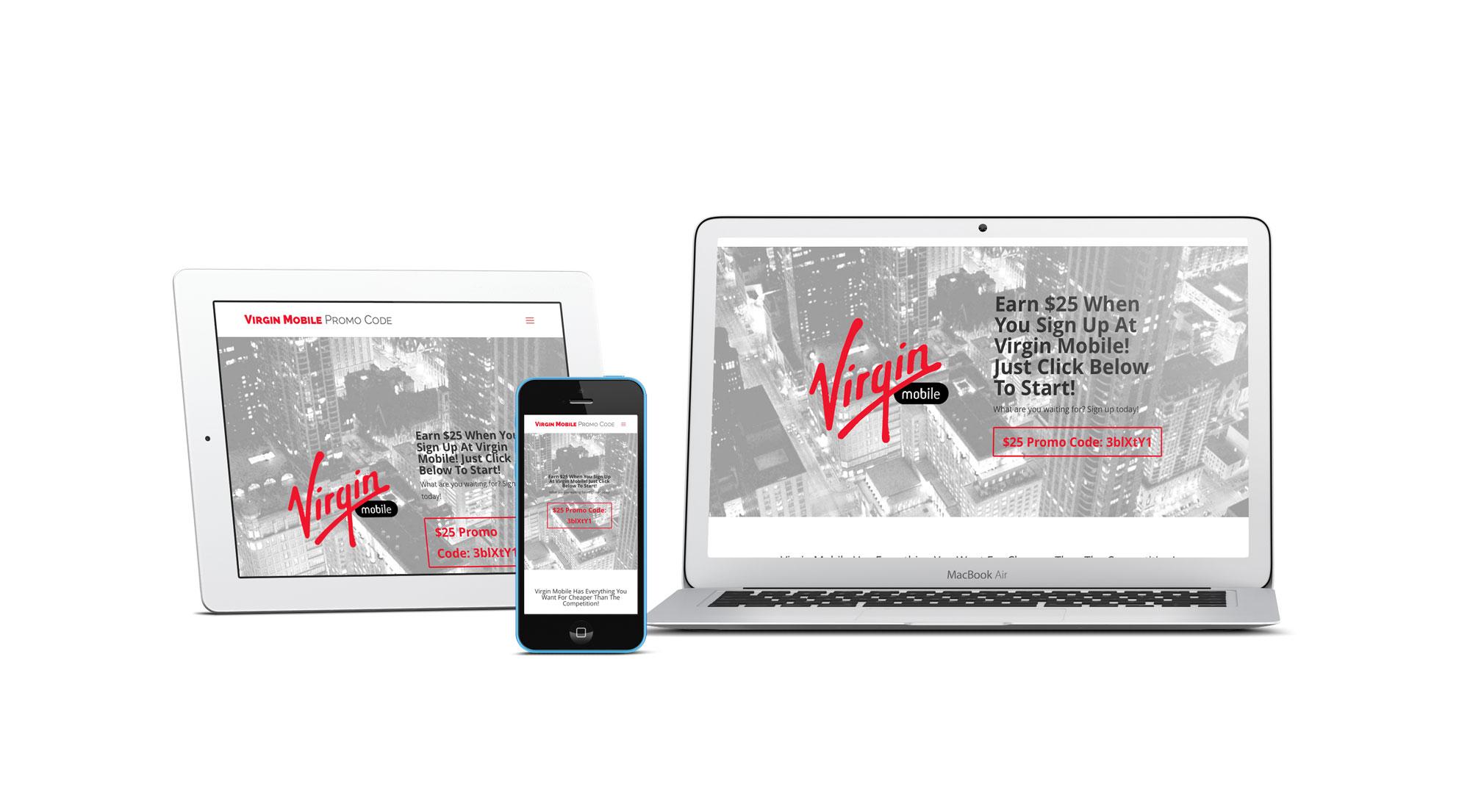 Virgin Mobile Promotional Discount Code Information Website