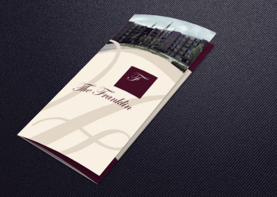 The Franklin Apartments Informational Brochure and Logo Tweak front cover