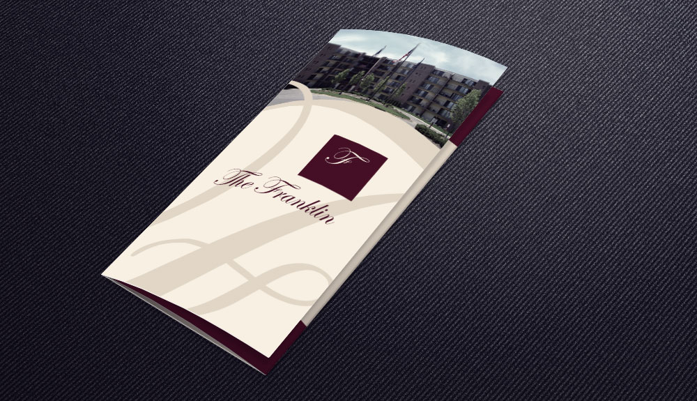 The Franklin Apartments Informational Brochure Redesign and Logo Tweak
