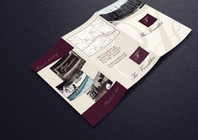 The Franklin Apartments Informational tri-fold Brochure and Logo Tweak outside
