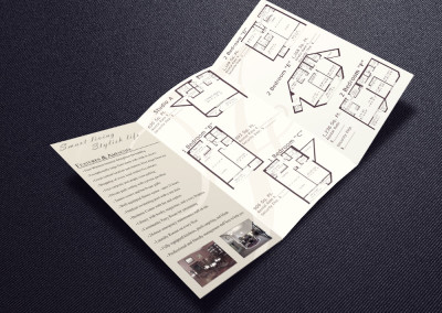 The Franklin Apartments Informational tri-fold Brochure and Logo Tweak inside